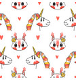 seamless pattern with faces squirrel and vector image vector image