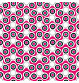 seamless pattern with white or pink fidget spinner vector image vector image