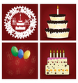 set birthday party elements vector image