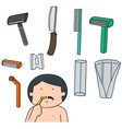 set of razor vector image