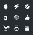 set of various energy icons vector image vector image
