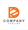 simple dz zd initials company logo vector image