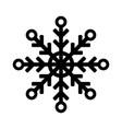 snowflake icon or logo christmas and winter theme vector image vector image