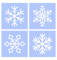 snowflakes white on blue background set vector image