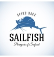 Spike Back Sailfish Seafood Purveyors Abstract vector image vector image