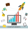 Startup growth concept vector image