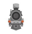 steam locomotive vehicle vector image vector image