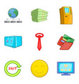 sufficiency icons set cartoon style vector image vector image