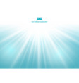 sunlight effect on blue background vector image vector image