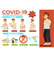 symptoms and prevention covid-19 methods vector image