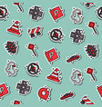 traffic icons pattern vector image vector image