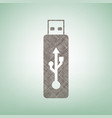 usb flash drive sign brown flax vector image vector image
