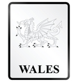 Wales Sign vector image vector image