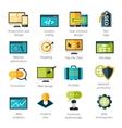 Web Development Icons Set vector image