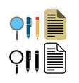 pen pencil and paper icon vector image