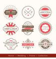 retro modern hipster wedding logo frame badge vector image