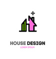 Abstract house logo design template Modern design vector image