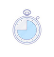 alarm clock hour minute time timer icon vector image vector image