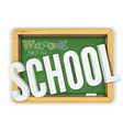 back to school green textured chalkboard welcomes vector image vector image