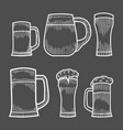 beer glass wooden mug vector image