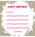 Birthday card1 vector image vector image