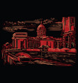 black and red hand drawing st petersburg 5 vector image vector image