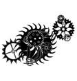 black gear mechanism vector image vector image