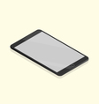 black tablet isometric vector image vector image