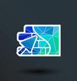 Brick wall trowel icon button logo symbol concept vector image vector image