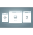 Browser Windows Responsive Web vector image vector image