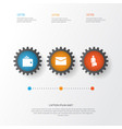 business icons set collection of envelope work man vector image vector image