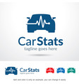 car stats logo template vector image