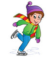 cartoon skating boy vector image