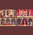 castle interior concept vector image vector image