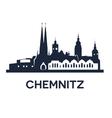 Chemnitz City Skyline vector image vector image