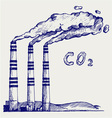 Co2 cloud vector image vector image