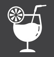 cocktail glyph icon food and drink alcohol sign vector image vector image