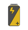color image cartoon alkaline battery electricity vector image vector image