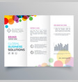 colorful circle abstract trifold brochure design vector image