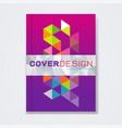 cover template brochure template layout book vector image vector image