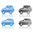 crossover and station wagon vector image vector image