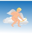 Cute angel on a cloud vector image vector image