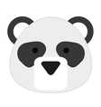 cute panda isolated icon design vector image vector image