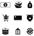 economy icon set vector image