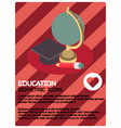 education color isometric poster vector image