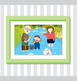 Family Play2 Photo vector image vector image
