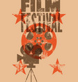 film festival retro typographical poster vector image