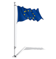 Flag Pole European Union vector image vector image