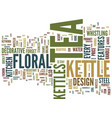 floral tea kettles text background word cloud vector image vector image