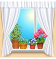 flowers window vs vector image